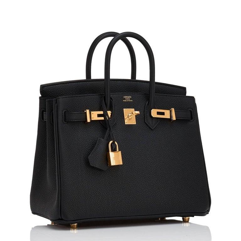 4137957fcccbb Hermes Birkin 25cm Black Togo Gold Hardware C Stamp Birkin Bag