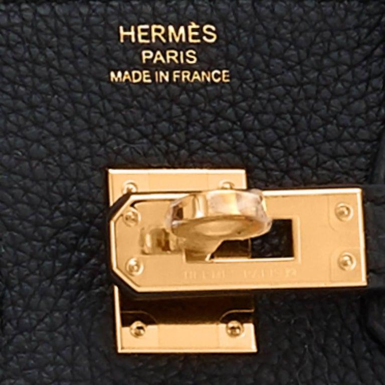 Hermes Birkin 25 cm Schwarze Togo Golddetails C-Logo Birkin Tasche, 2018 10