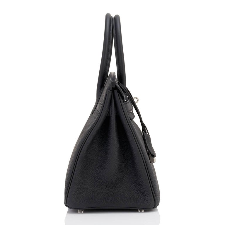 Hermes Birkin 30cm Black Togo Palladium Hardware C Stamp Bag, 2018  6