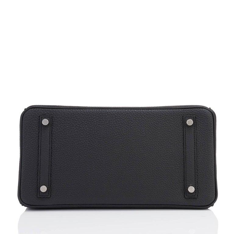Hermes Birkin 30cm Black Togo Palladium Hardware C Stamp Bag, 2018  7