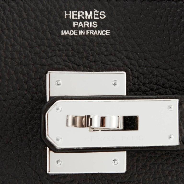 Hermes Birkin 30cm Black Togo Palladium Hardware C Stamp Bag, 2018  10