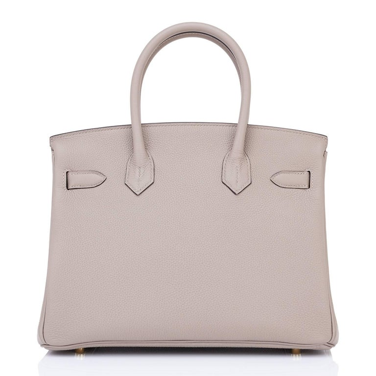 Hermes Birkin 30cm Gris Asphalte Dove Grey Togo Gold Hardware Bag C Stamp, 2018 5