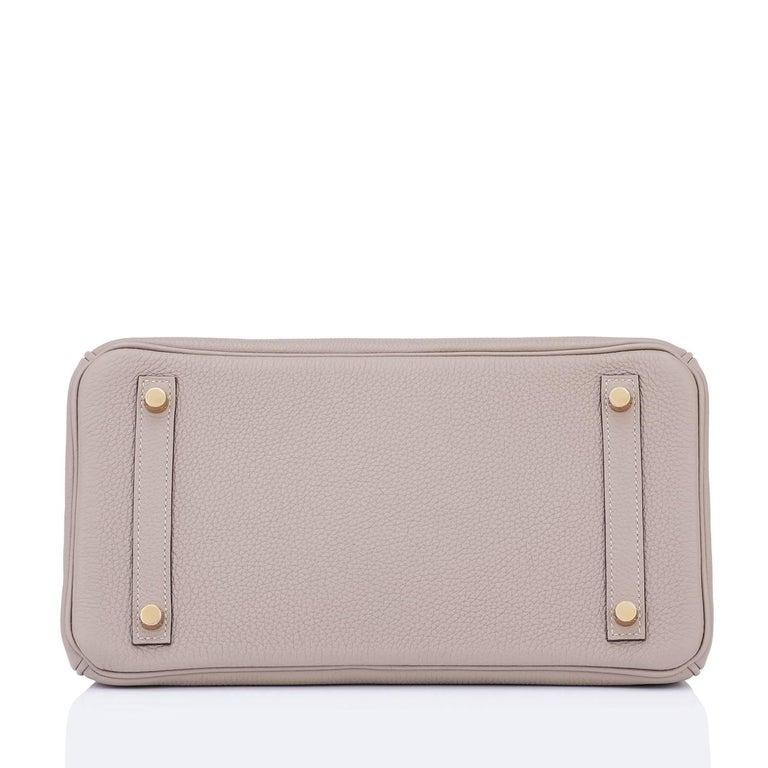 Hermes Birkin 30cm Gris Asphalte Dove Grey Togo Gold Hardware Bag 7
