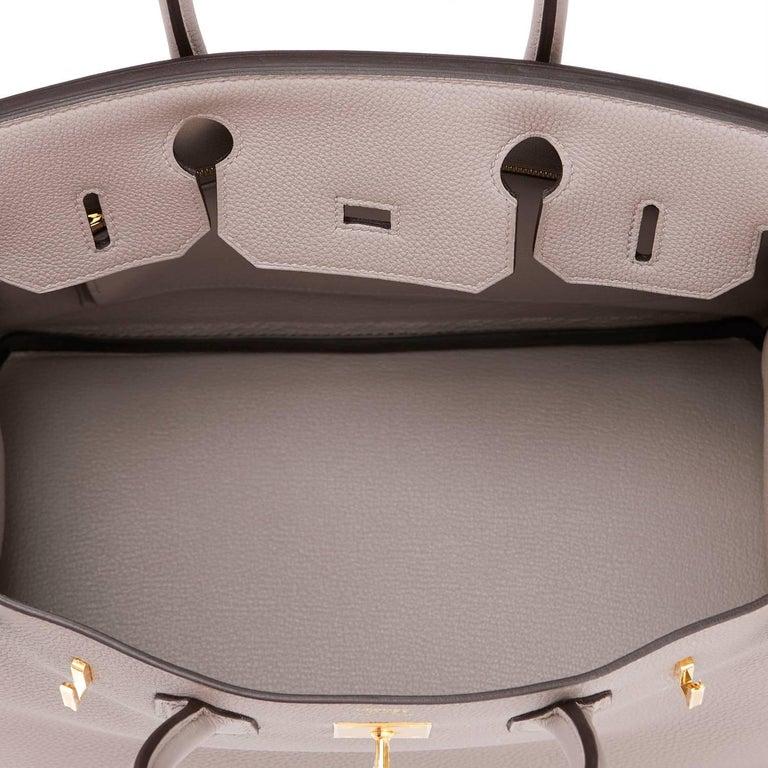 Hermes Birkin 30cm Gris Asphalte Dove Grey Togo Gold Hardware Bag 8
