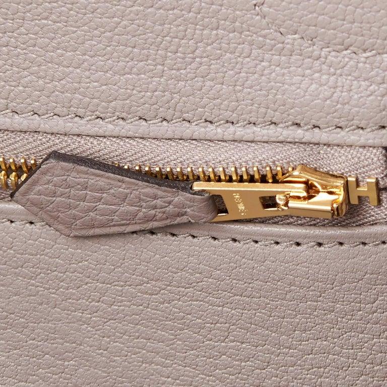 Hermes Birkin 30cm Gris Asphalte Dove Grey Togo Gold Hardware Bag 9