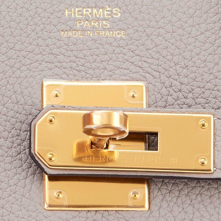 Hermes Birkin 30cm Gris Asphalte Dove Grey Togo Gold Hardware Bag 10