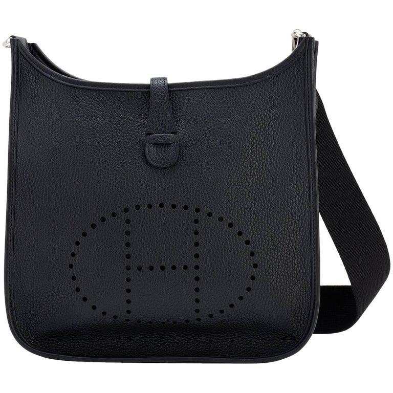 Hermes Black Evelyne Iii Pm Cross Body Messenger Bag C Stamp 2018 For