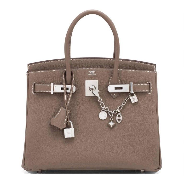 Women's or Men's Hermes Silver Olga Charm Silver for Birkin and Kelly Bag Rare For Sale