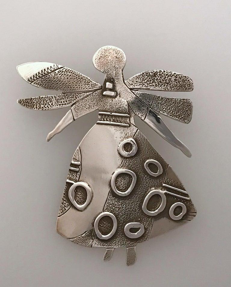 Salt Water Girl, Melanie Yazzie enhancer, pendant, sterling silver,  Navajo  For Sale 2