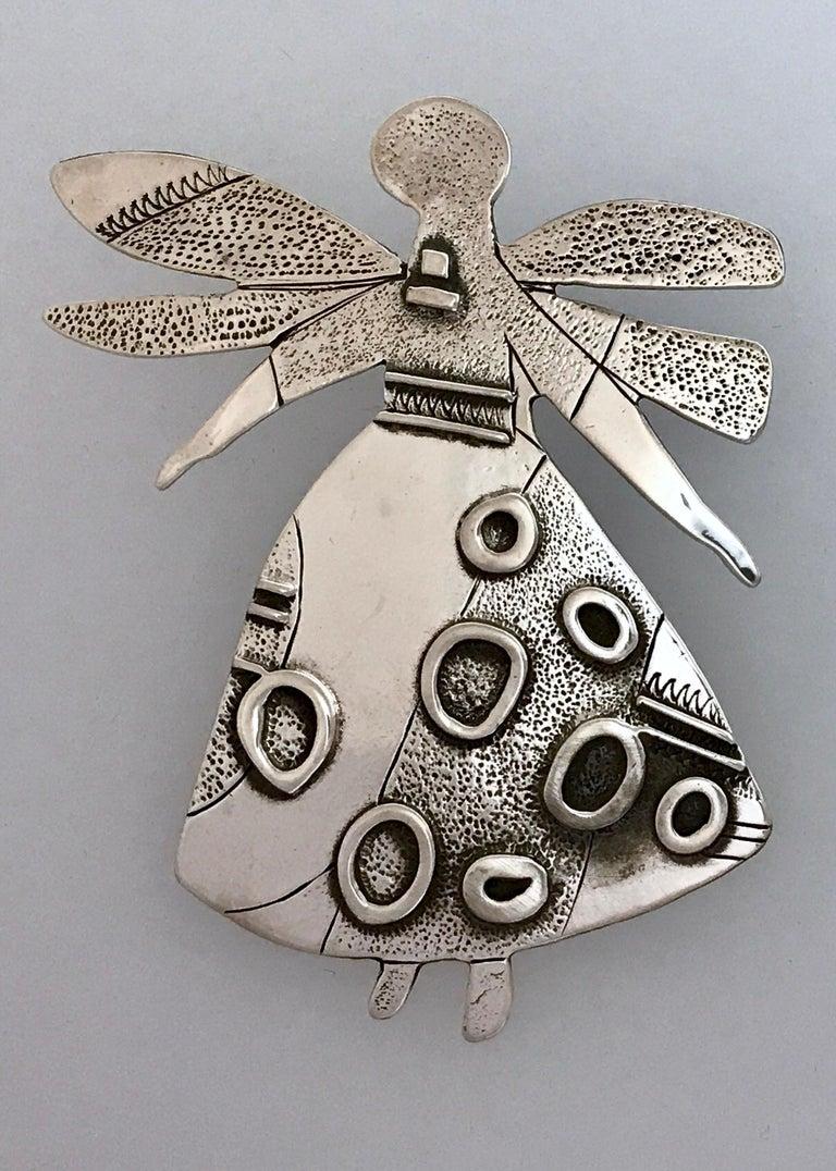 Artist Salt Water Girl, Melanie Yazzie enhancer, pendant, sterling silver,  Navajo  For Sale