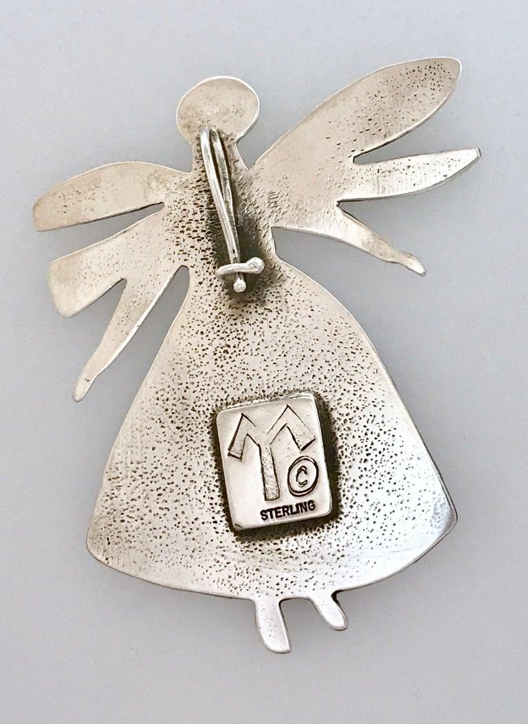 Salt Water Girl, Melanie Yazzie enhancer, pendant, sterling silver,  Navajo  In New Condition For Sale In Santa Fe, NM