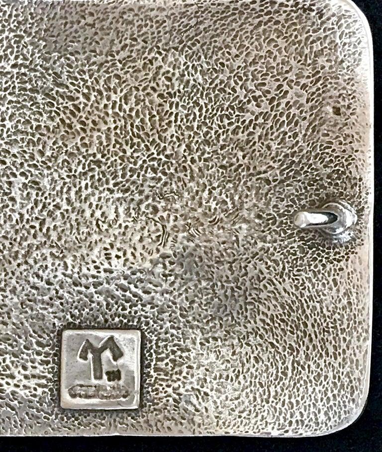 Women's or Men's Sombra Girl, white bronze belt buckle, dog Melanie Yazzie Navajo Native American For Sale