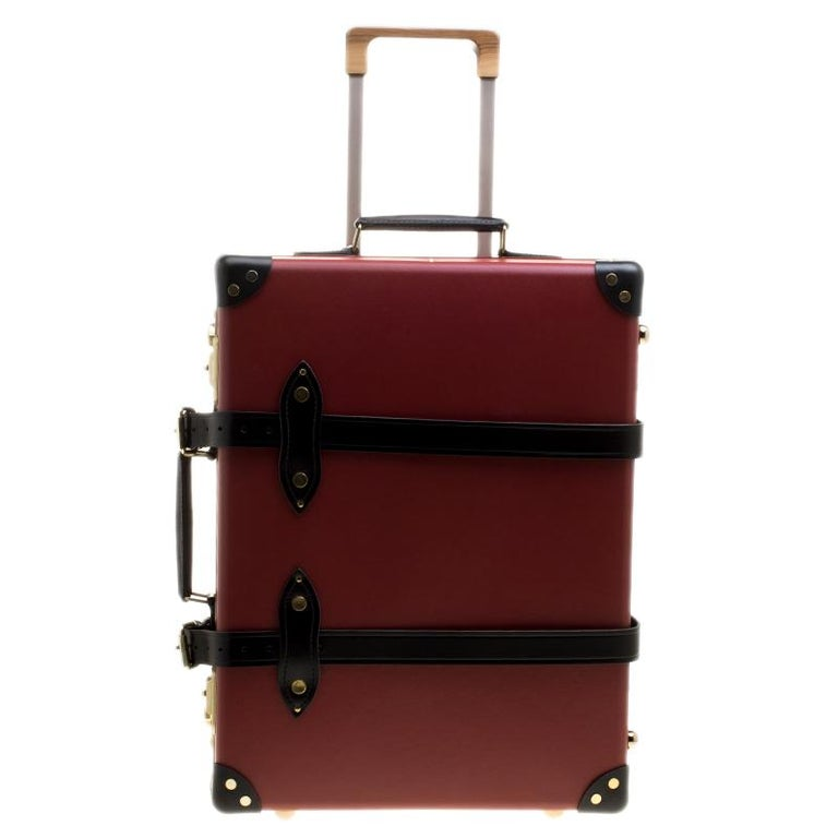 Globe Trotter Burgundy 4 Piece Limited Edition Chivas Regal Luggage Set