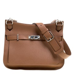 Hermes Gold Clemence Leather Jypsiere 34 Bag