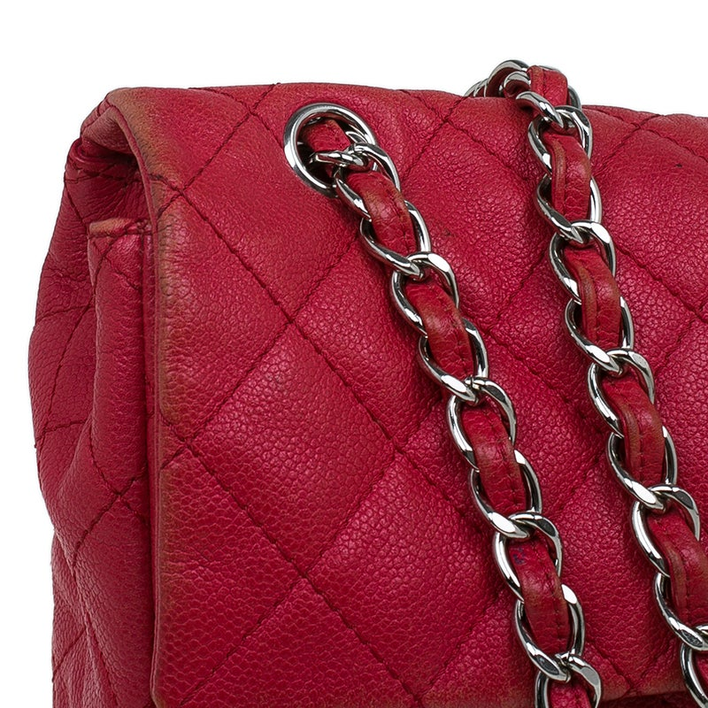 791b2731762ce1 Chanel Red Washed Caviar Leather Maxi Jumbo XL Classic Flap Bag For Sale at  1stdibs