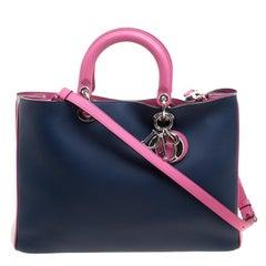 Dior Multicolor Leather Large Diorissimo Shopper Tote