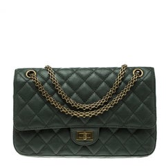 Chanel Green Quilted Leather Reissue 2.55 Classic 226 Flap Bag
