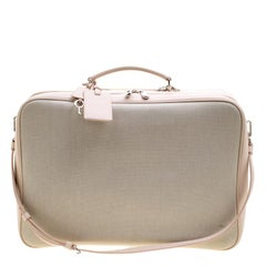 Dior Beige/Pink Canvas and Leather Nappy Suitcase