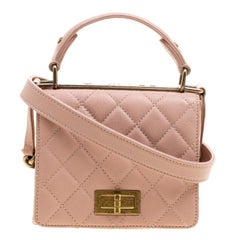 Chanel Pink Quilted Leather Small Rita Flap Shoulder Bag