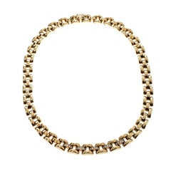 Chopard La Strada Diamond 18K Yellow Gold Chain Link Necklace