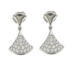 Bvlgari Diva's Dream Diamond 18k White Gold Drop Earrings