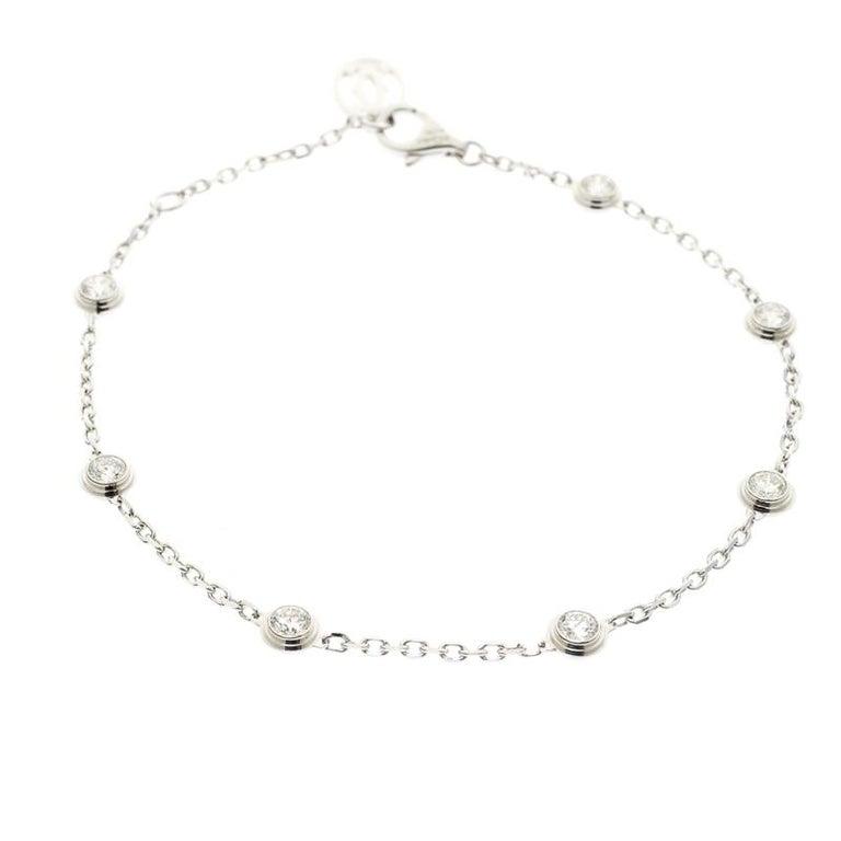 66df152777326 Cartier Diamants Legers de Cartier 7 Diamonds 18k White Gold Bracelet For  Sale