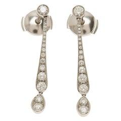 Tiffany & Co. Jazz Diamond Platinum Earrings