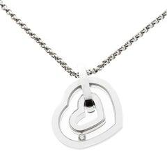 Chopard Happy Diamond Heart 18k White Gold Pendant Necklace