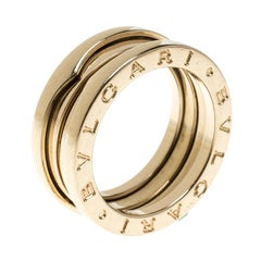 Bvlgari B.Zero 1 18k Yellow Gold 3 Band Ring Size 51