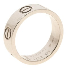 Cartier Love Collection - Platinum Band Ring Size EU 47 - US 4