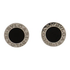 Bvlgari Bvlgari Onyx White Gold Stud Earrings