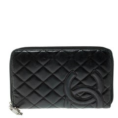 Chanel Black Quilted Leather CC Cambon Long Wallet