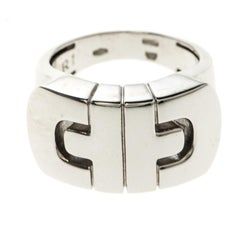 Bvlgari Parentesi 18k White Gold Ring Size 54