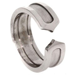 Cartier C de Cartier White Gold Ring Size 49