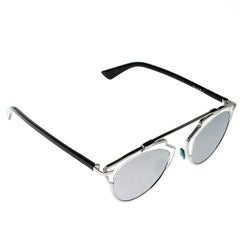 Dior Silver Mirrored APPDC So Real Round Sunglasses