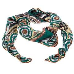 Hermes Multicolor The Savana Dance Print Cashmere and Silk Shawl