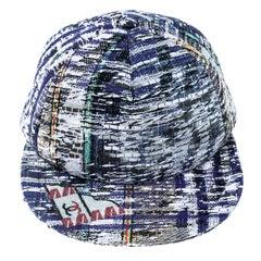 Chanel Multicolor Textured Embellished Baseball Cap