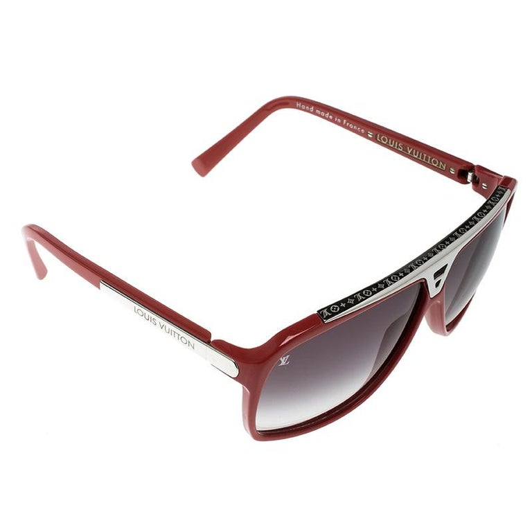 63e3e648cdd5c Louis Vuitton Red Black Gradient Z0286W Evidence Sunglasses at 1stdibs