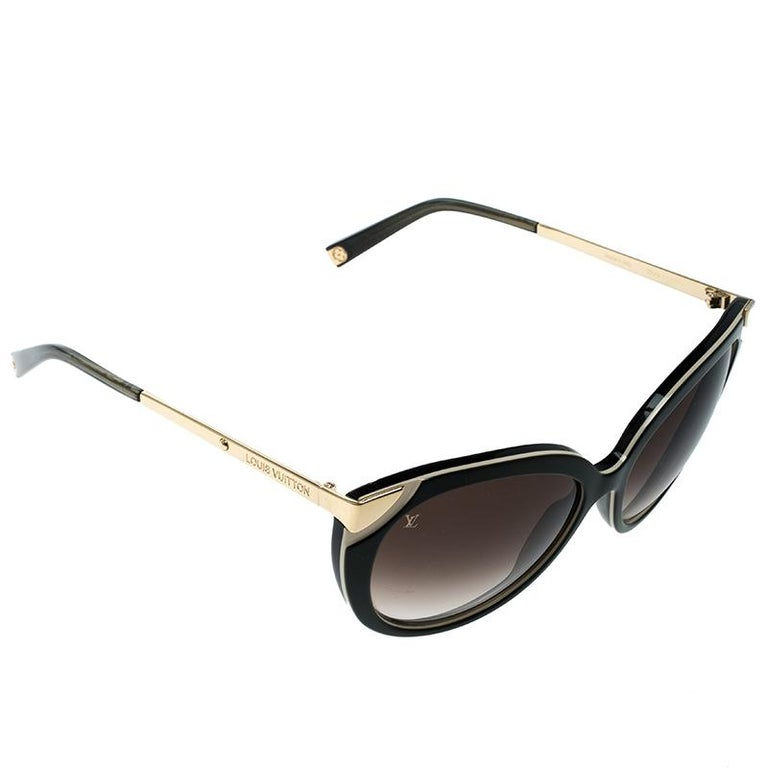 e3c35e8be7 Louis Vuitton Green Brown Gradient Z0779W Cat Eye Sunglasses at 1stdibs