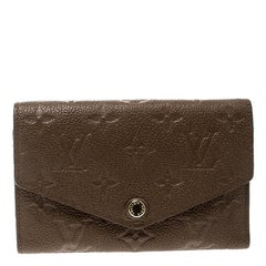 Louis Vuitton Bronze Monogram Empreinte Leather Compact Curieuse Wallet