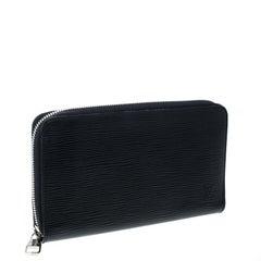 Louis Vuitton Black Epi Leather Zippy Organizer Wallet