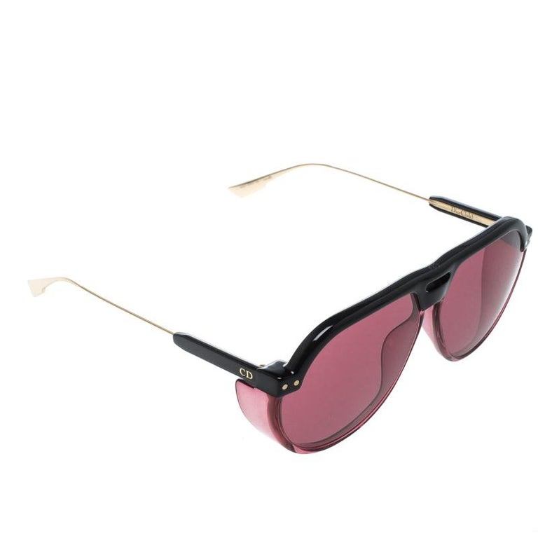 fbd84b4c6dcf Dior Black  Pink Club 3 Aviator Sunglasses at 1stdibs