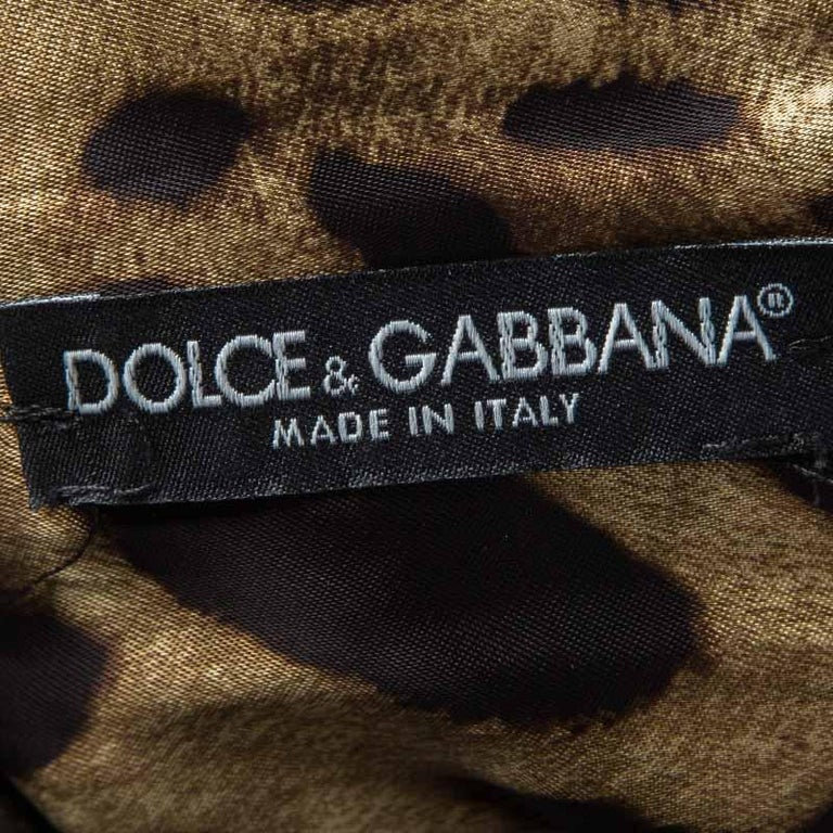 Women's Dolce and Gabbana Metallic Cap Sleeve Sheath Dress M For Sale