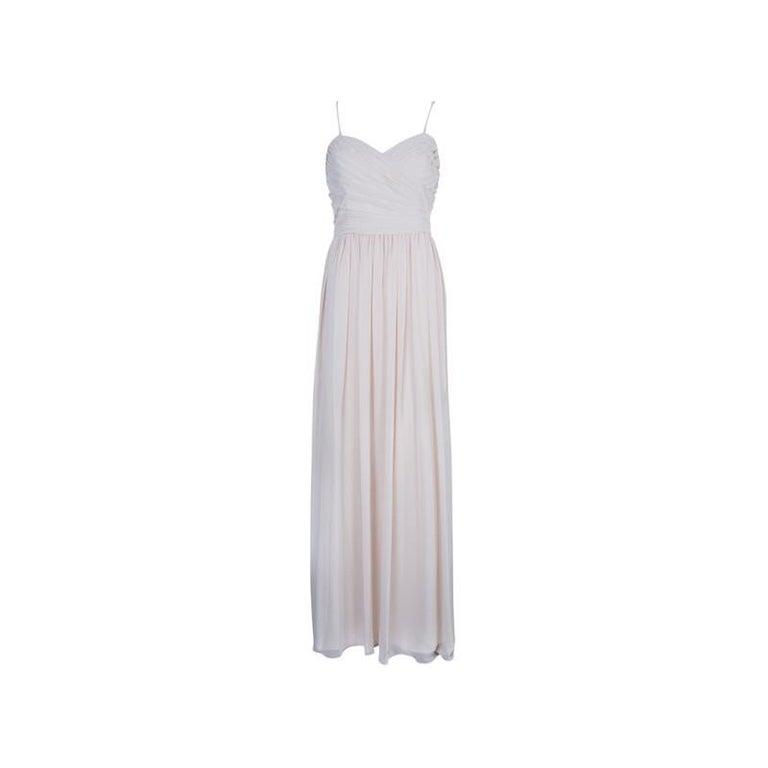 Monique Lhuillier Blush Sweetheart Chiffon Gown XL