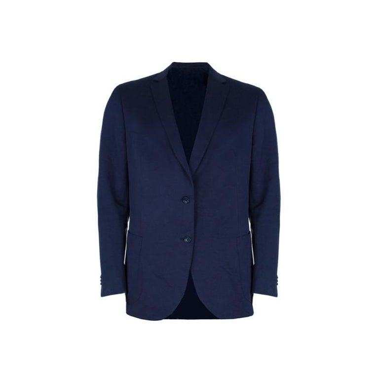 3e63786ba4 Z Zegna Navy Single Breasted Men's Blazer XL