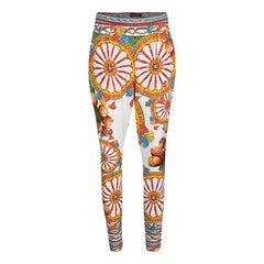 Dolce and Gabbana Multicolor Sicilian Print Pants S