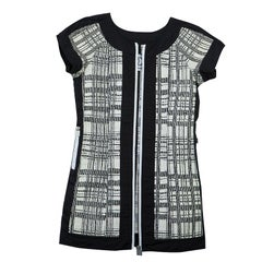 Chanel Monochrome Textured Short Sleeve Jacket S