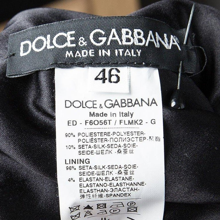 Women's Dolce and Gabbana Black Sequin Embellished Sleeveless Dress L For Sale