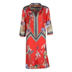 Etro Multicolor Printed Silk Tunic Dress M
