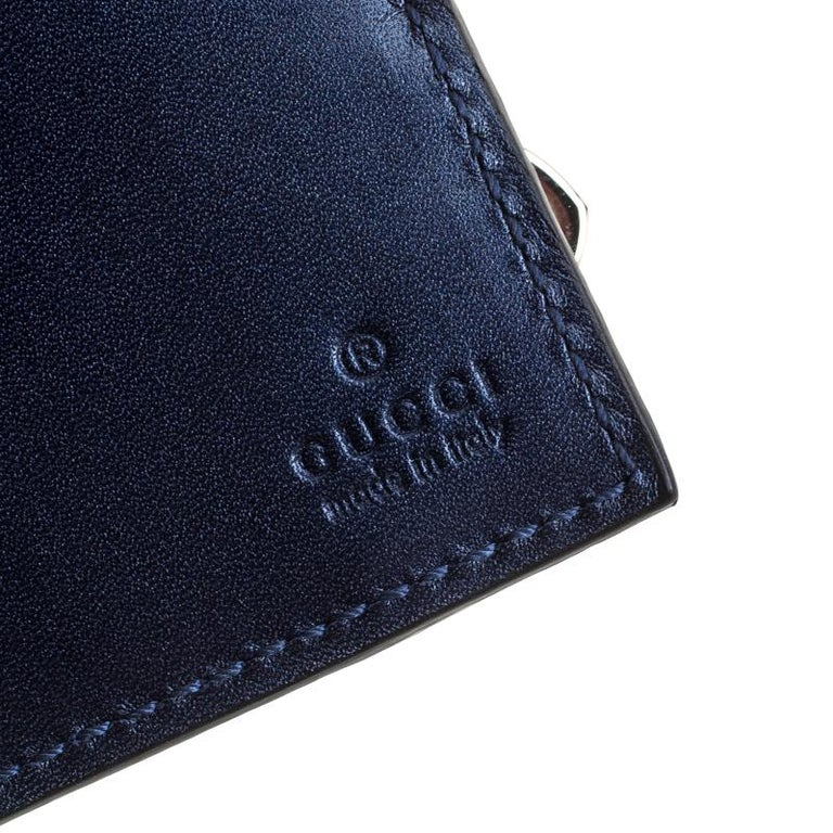 9cb2c3dfb18 Gucci Blue Microguccissima Patent Leather WOC Wallet at 1stdibs
